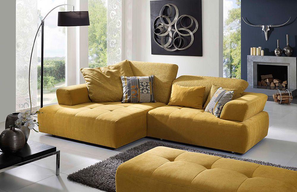 dallas von k w polsterm bel eckcouch gelb. Black Bedroom Furniture Sets. Home Design Ideas