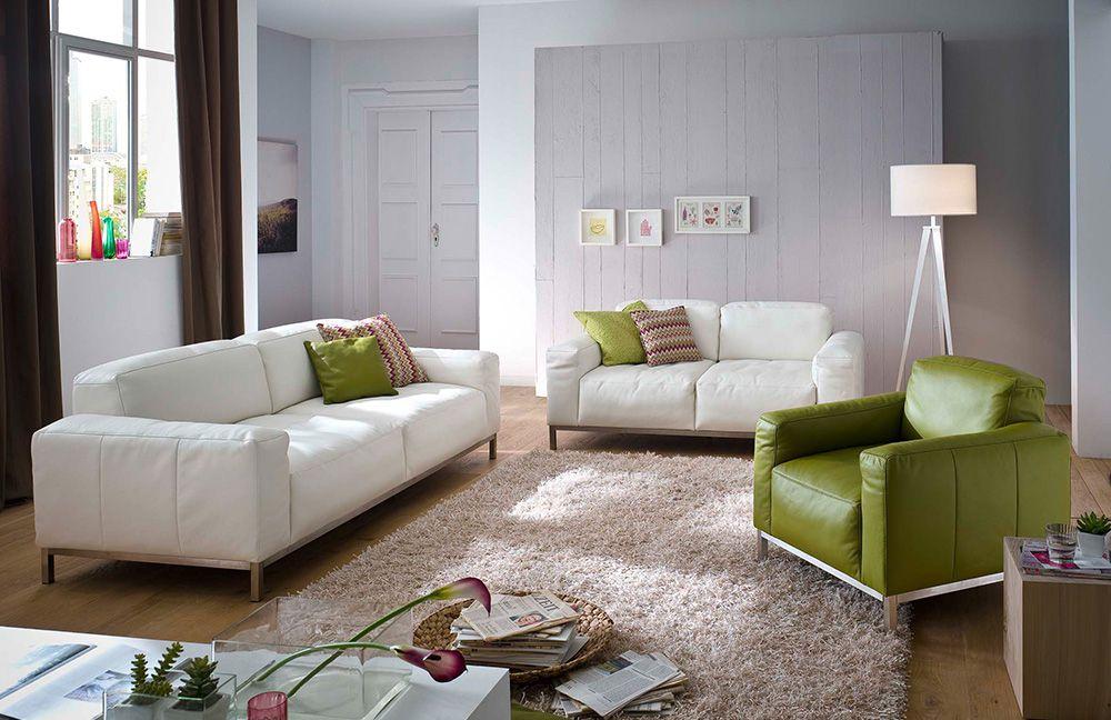 Ledercouch weiß  K+W Polstermöbel Lounge Ledercouch weiß | Möbel Letz - Ihr Online-Shop