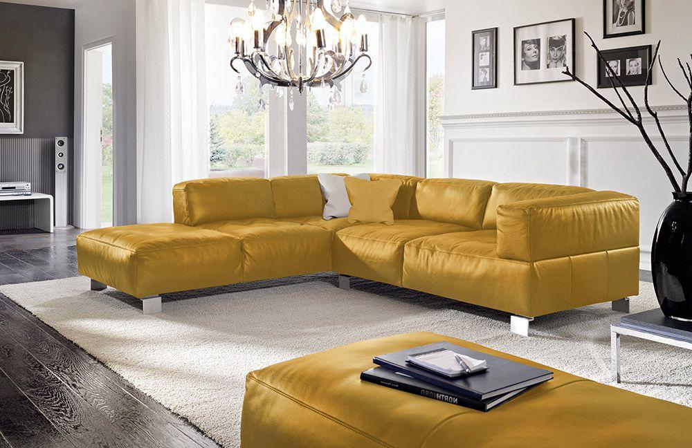 k w polsterm bel loft ledersofa safran m bel letz ihr. Black Bedroom Furniture Sets. Home Design Ideas