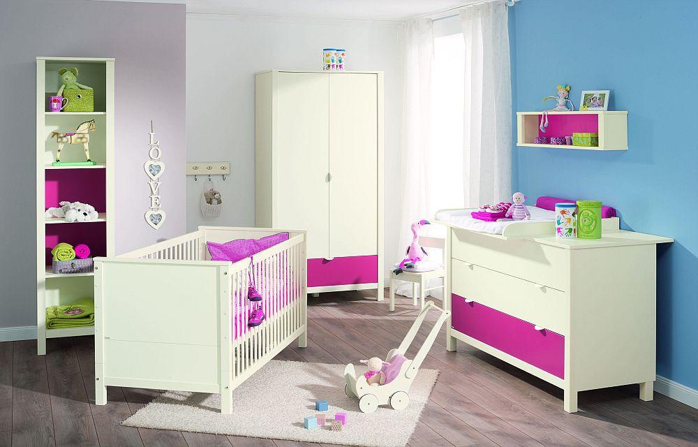 babyzimmer matilda von paidi ecru himbeere m bel letz ihr online shop. Black Bedroom Furniture Sets. Home Design Ideas