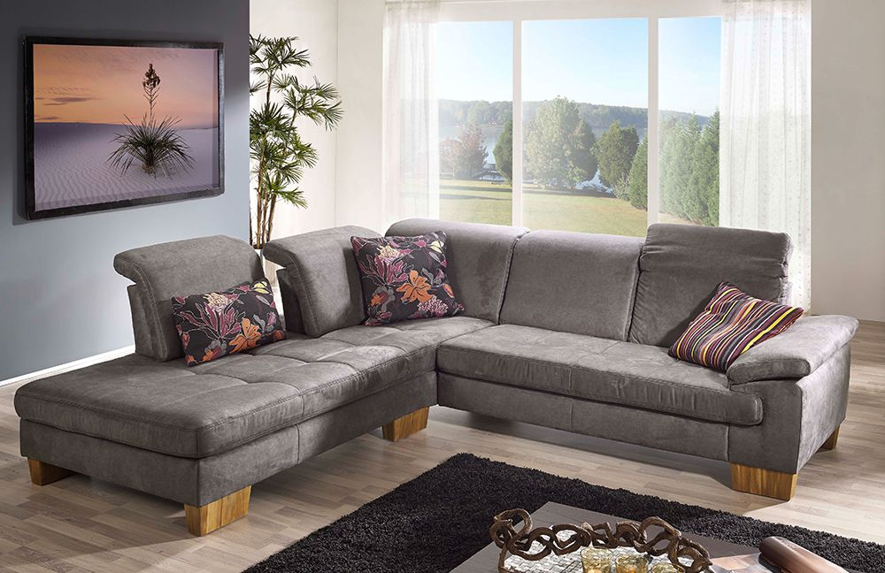 f s polsterm bel 232 genua ecksofa grau m bel letz ihr online shop. Black Bedroom Furniture Sets. Home Design Ideas