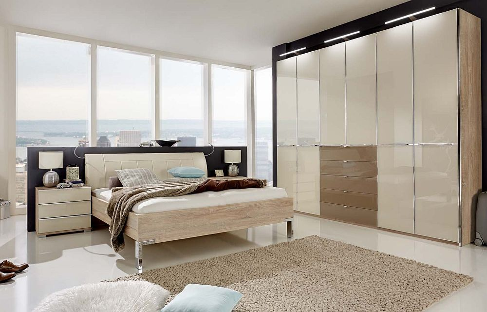 schlafzimmer shanghai von wiemann eiche s gerau glas magnolie. Black Bedroom Furniture Sets. Home Design Ideas