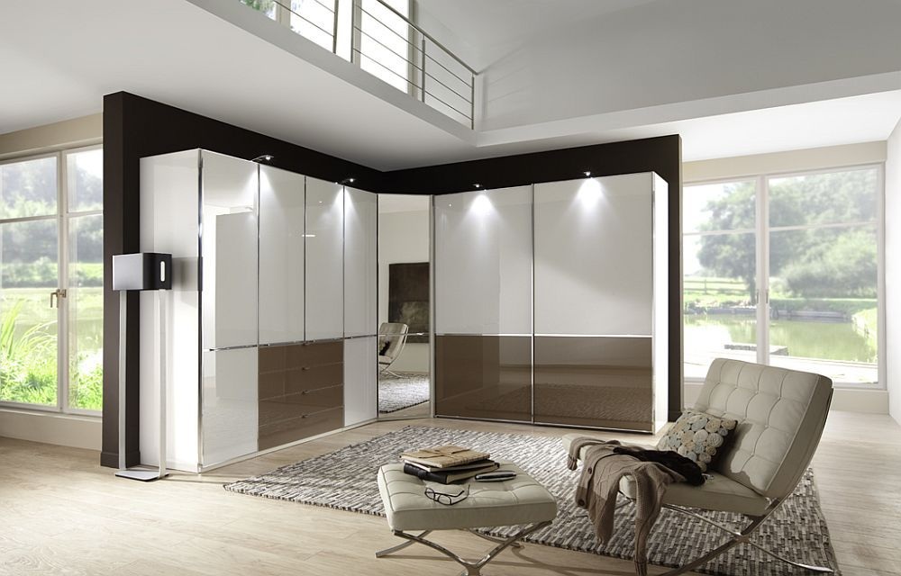 eck kleiderschrank shanghai von wiemann wei glas. Black Bedroom Furniture Sets. Home Design Ideas