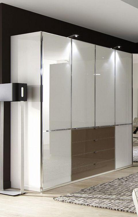 Eck-Kleiderschrank Shanghai von Wiemann - weiß/ Glas Sahara. Möbel ...