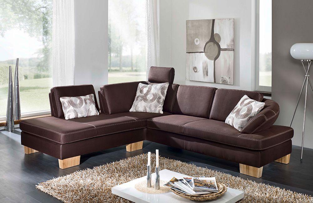 Ecksofa braun  F+S Polstermöbel 202 Opus Ecksofa braun | Möbel Letz - Ihr Online-Shop