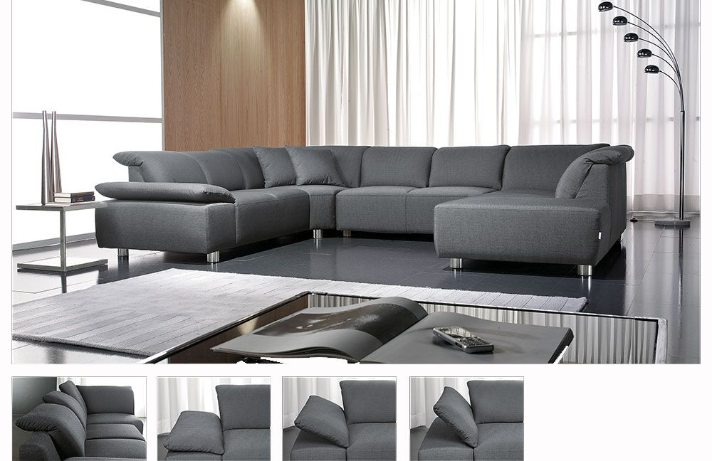 laval von candy wohnlandschaft grau polsterm bel g nstig online kaufen sofa couch schlafsofa. Black Bedroom Furniture Sets. Home Design Ideas