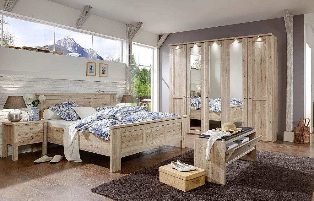 Schlafzimmer Bergamo von Wiemann Santana Eiche | Möbel Letz - Ihr ...