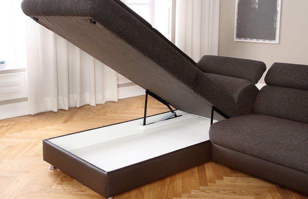 candy milestone polstergarnitur in braun m bel letz ihr online shop. Black Bedroom Furniture Sets. Home Design Ideas