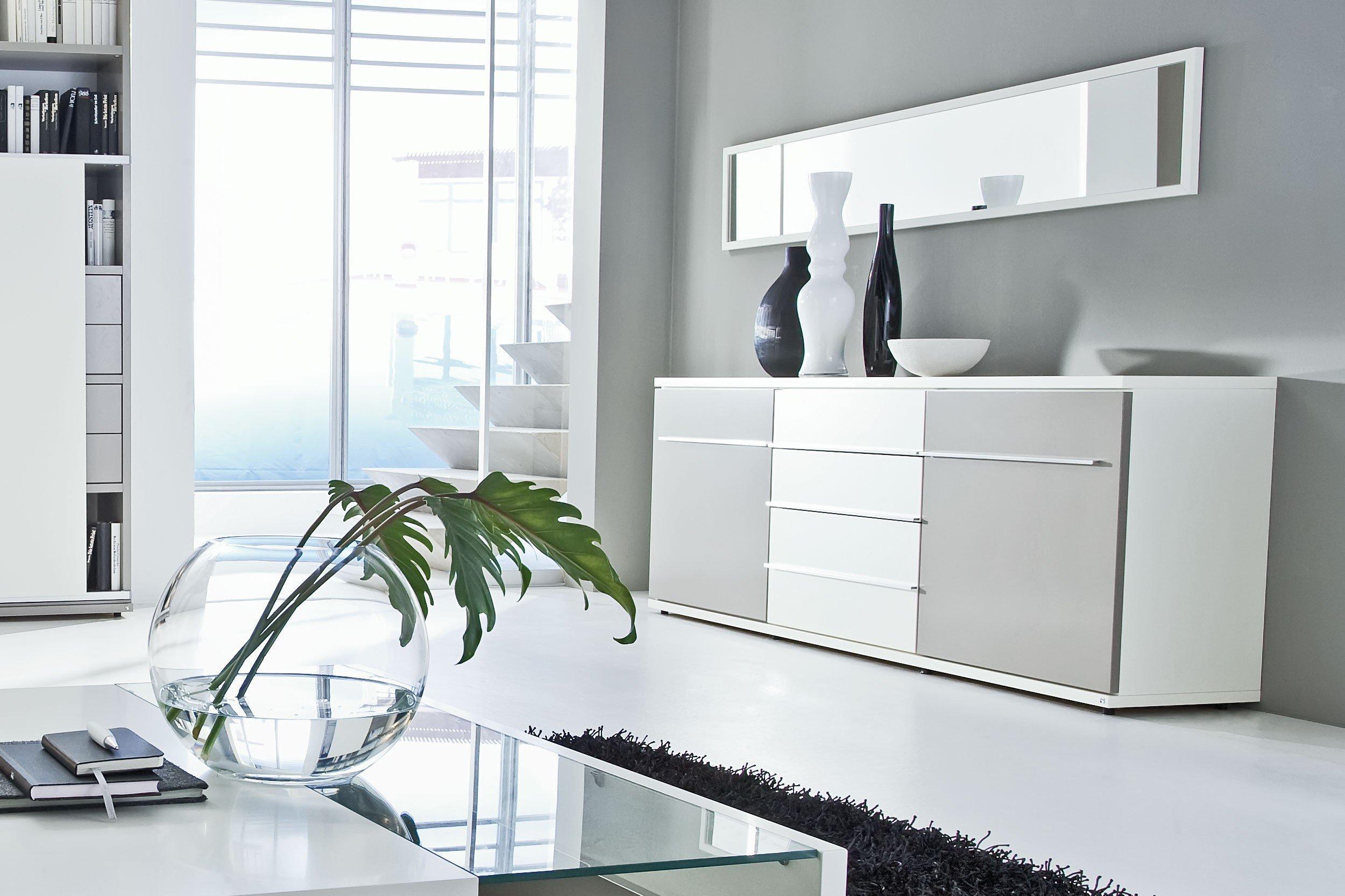 Kito Von Loddenkemper   Wohnwand 9815 Grau/ Weiß