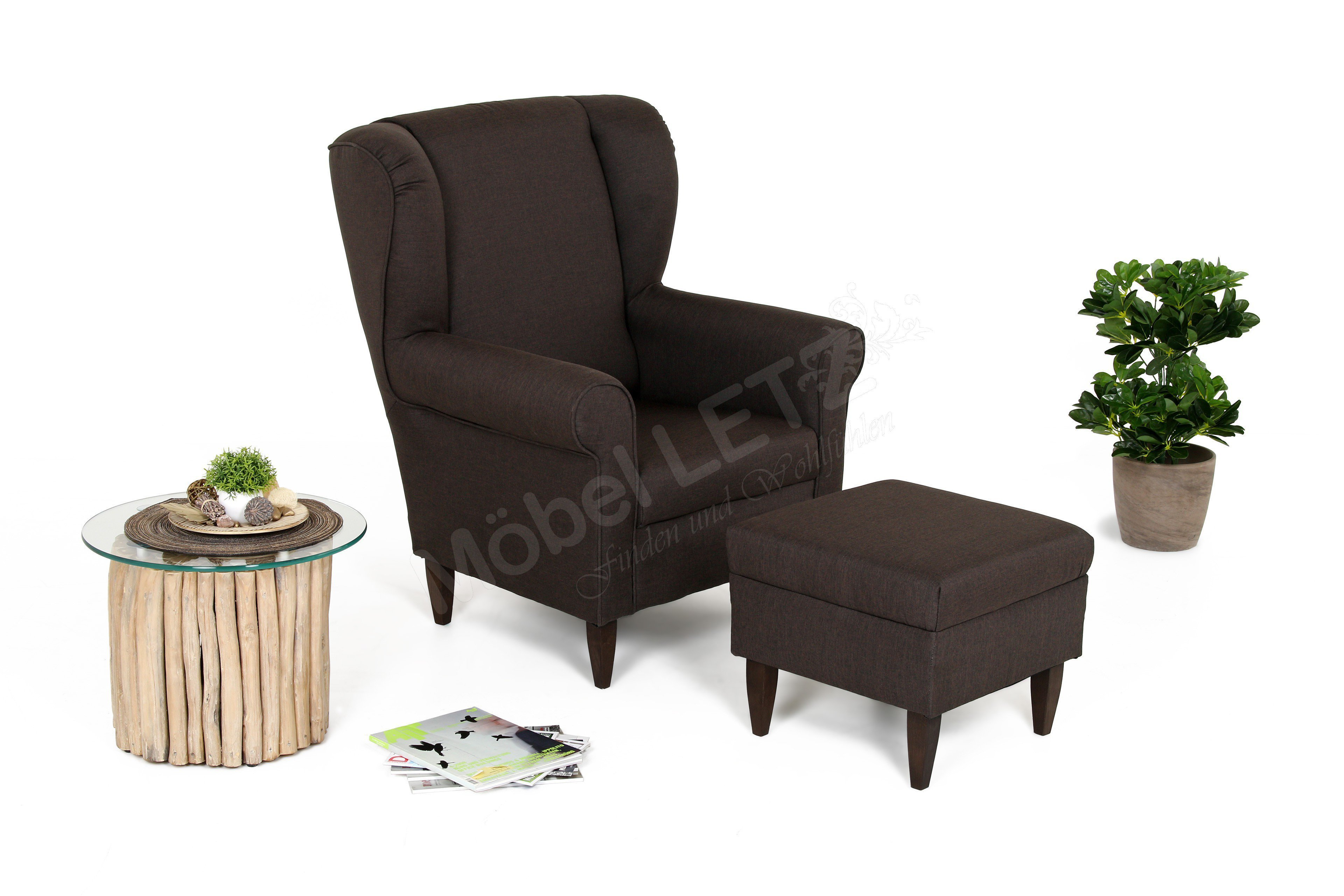 benformato asino sessel braun m bel letz ihr online shop. Black Bedroom Furniture Sets. Home Design Ideas
