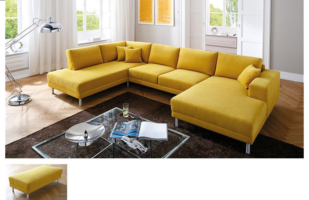 candy modesto polstergarnitur in gelb m bel letz ihr online shop. Black Bedroom Furniture Sets. Home Design Ideas