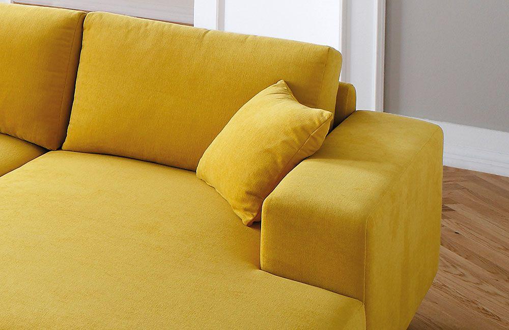 Candy modesto polstergarnitur in gelb m bel letz ihr for Ecksofa yellow