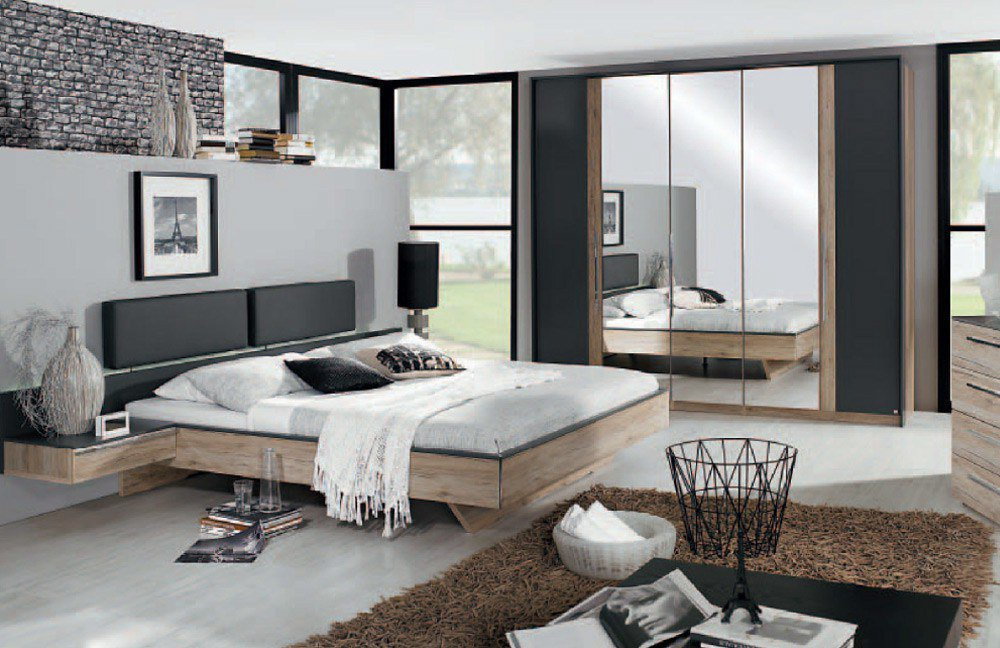 schlafzimmer colette von rauch dialog in sanremo eiche hell graphit m bel letz ihr online shop. Black Bedroom Furniture Sets. Home Design Ideas