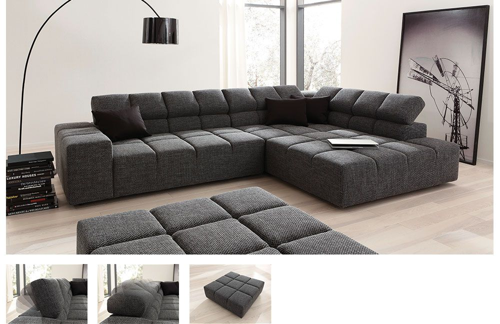 candy oregon ecksofa in grau m bel letz ihr online shop. Black Bedroom Furniture Sets. Home Design Ideas