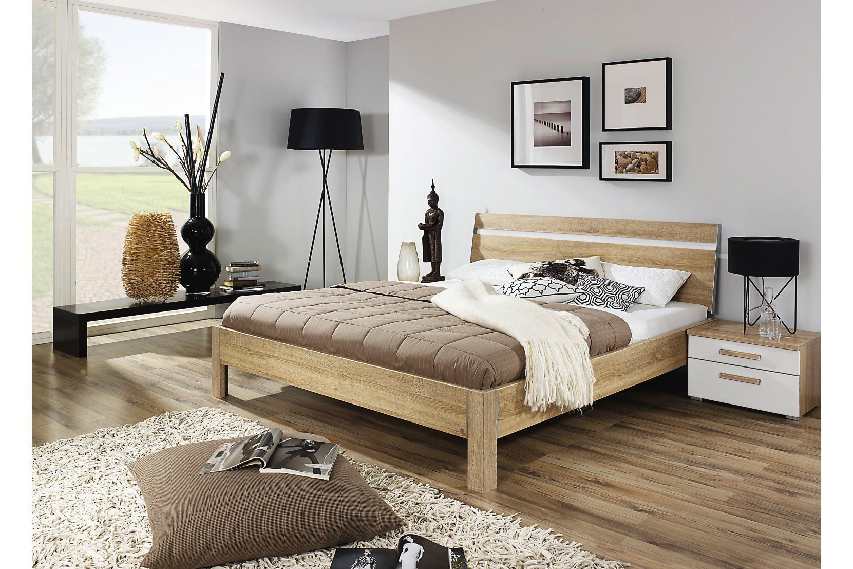 rauch solo bett 140 x 200 eiche nachbildung wei m bel letz ihr online shop. Black Bedroom Furniture Sets. Home Design Ideas