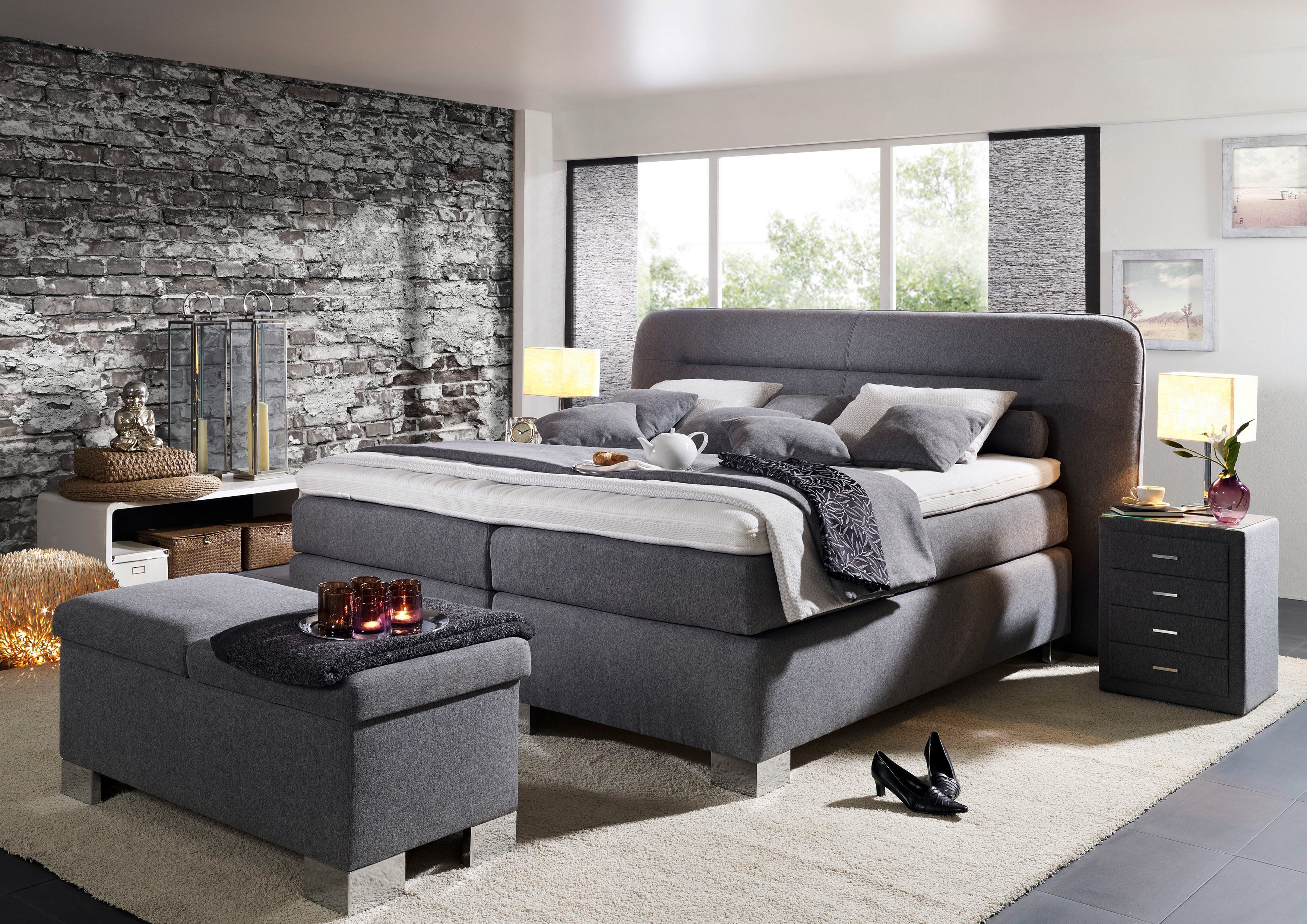 boxspringbett belcanto surpreme von oschmann in hellgrau m bel letz ihr online shop. Black Bedroom Furniture Sets. Home Design Ideas