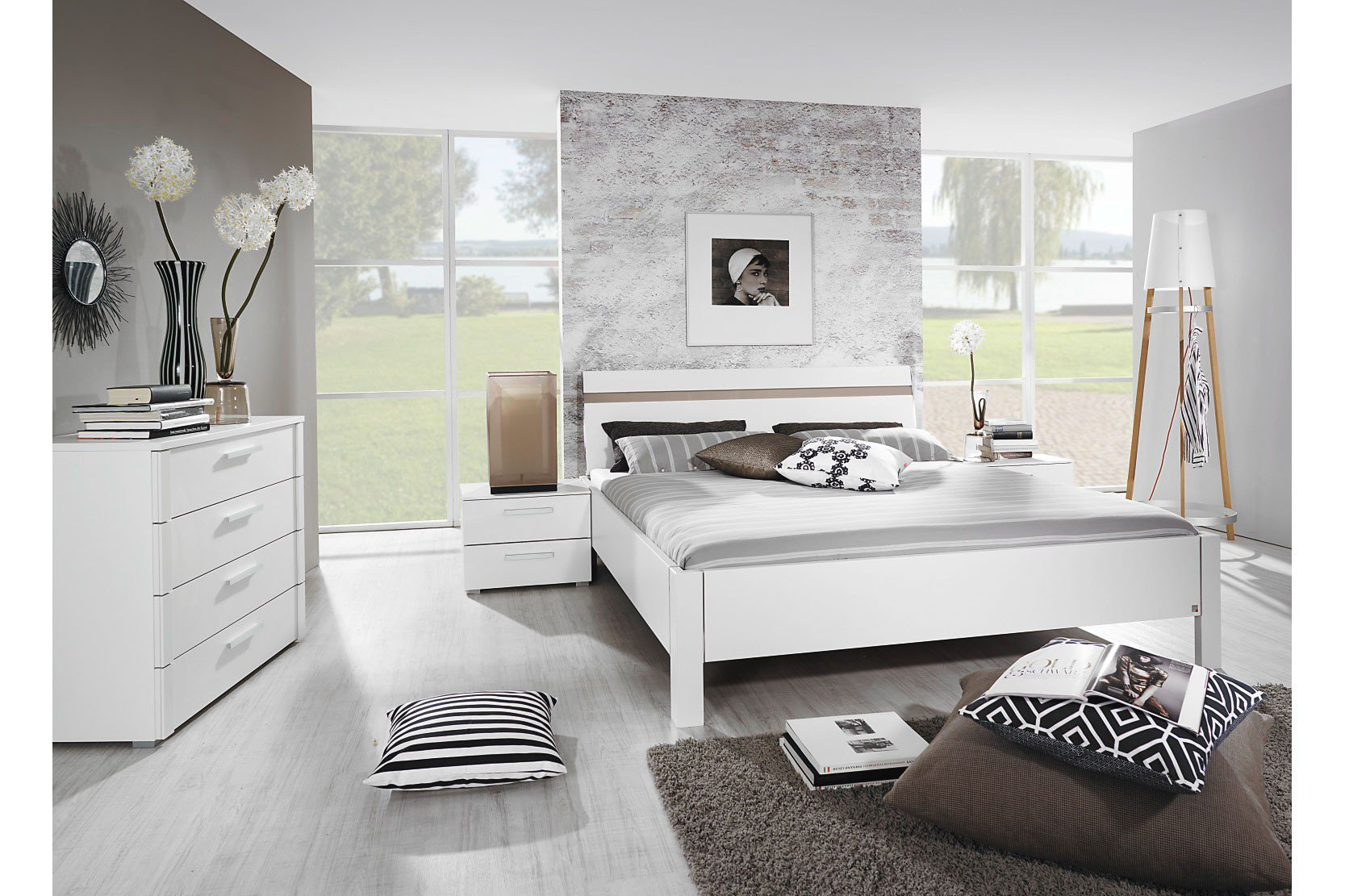 solo rauch bett wei dekor m bel letz ihr online shop. Black Bedroom Furniture Sets. Home Design Ideas