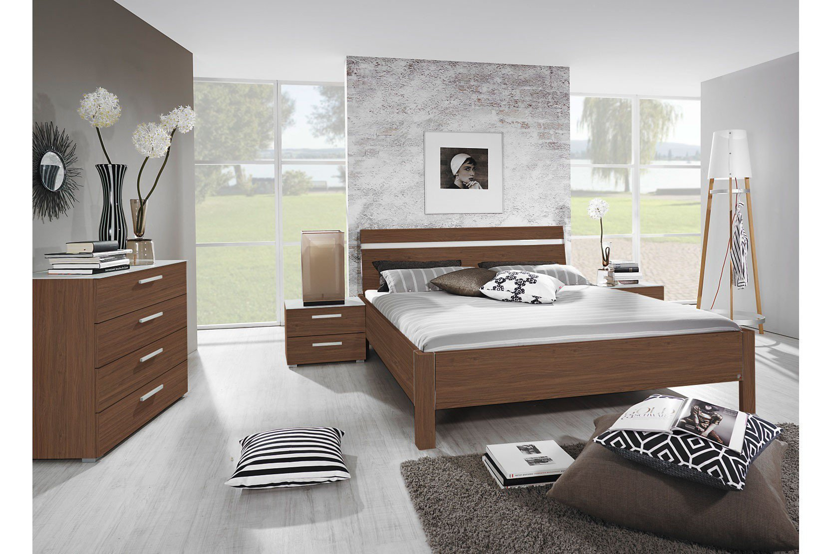 rauch dialog bett nussbaum 160 x 200 cm m bel letz ihr online shop. Black Bedroom Furniture Sets. Home Design Ideas