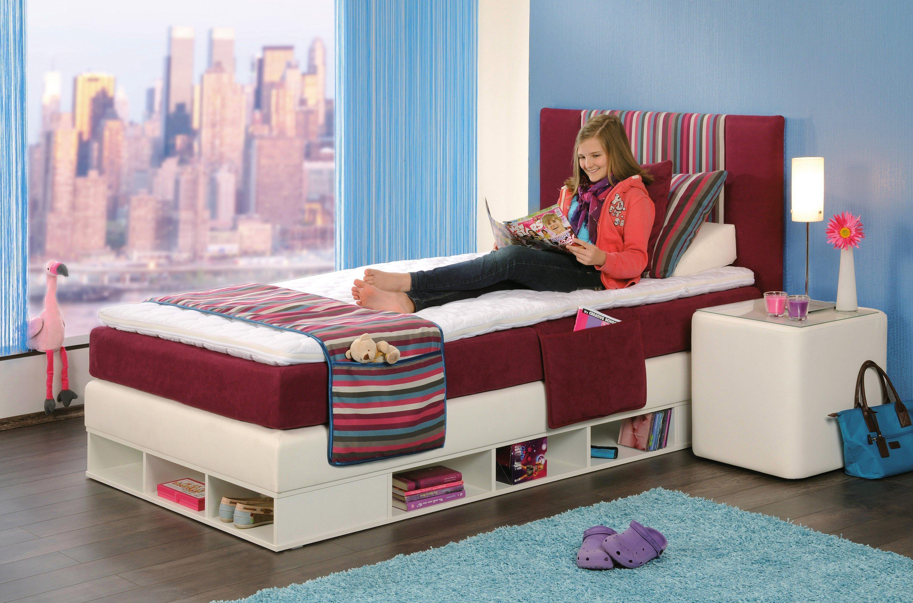 boxspringbett youngster von oschmann in purpur wei. Black Bedroom Furniture Sets. Home Design Ideas