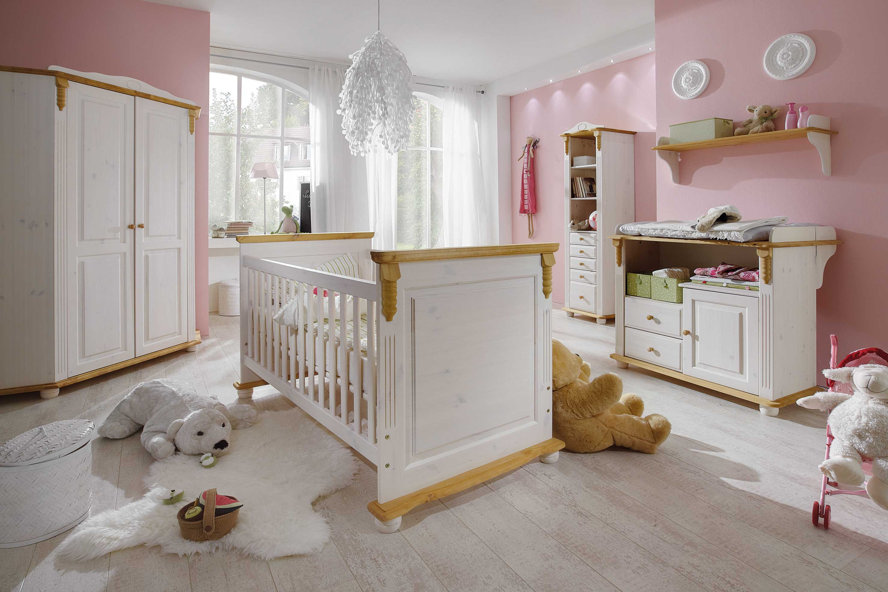 infanskids romantik babyzimmer kiefer wei laugenfarbig m bel letz ihr online shop. Black Bedroom Furniture Sets. Home Design Ideas