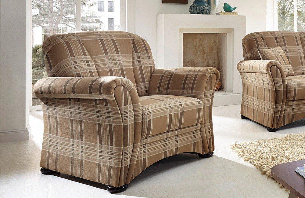 schr no berlin sofa duo hellbraun kariert m bel letz. Black Bedroom Furniture Sets. Home Design Ideas