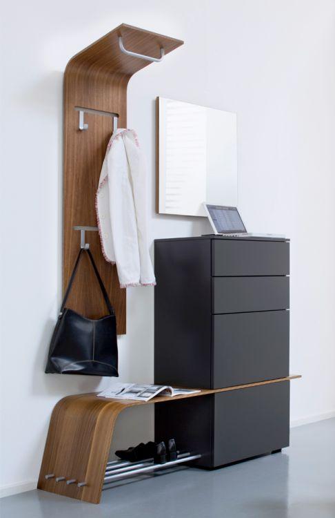 garderobe elli 248 in nussbaum glattlack quarz von sudbrock m bel letz ihr online shop. Black Bedroom Furniture Sets. Home Design Ideas