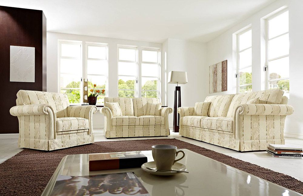 schr no imperial sofa gespann beige gemustert m bel letz ihr online shop. Black Bedroom Furniture Sets. Home Design Ideas