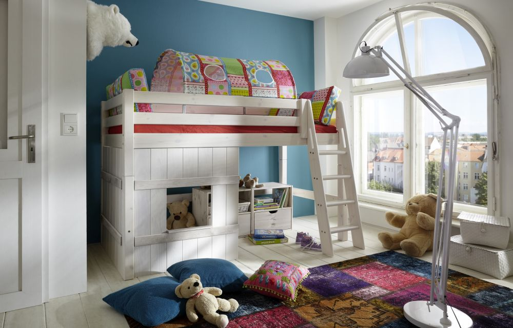 mittelhohes bett von infanskids kiefer wei m bel letz ihr online shop. Black Bedroom Furniture Sets. Home Design Ideas