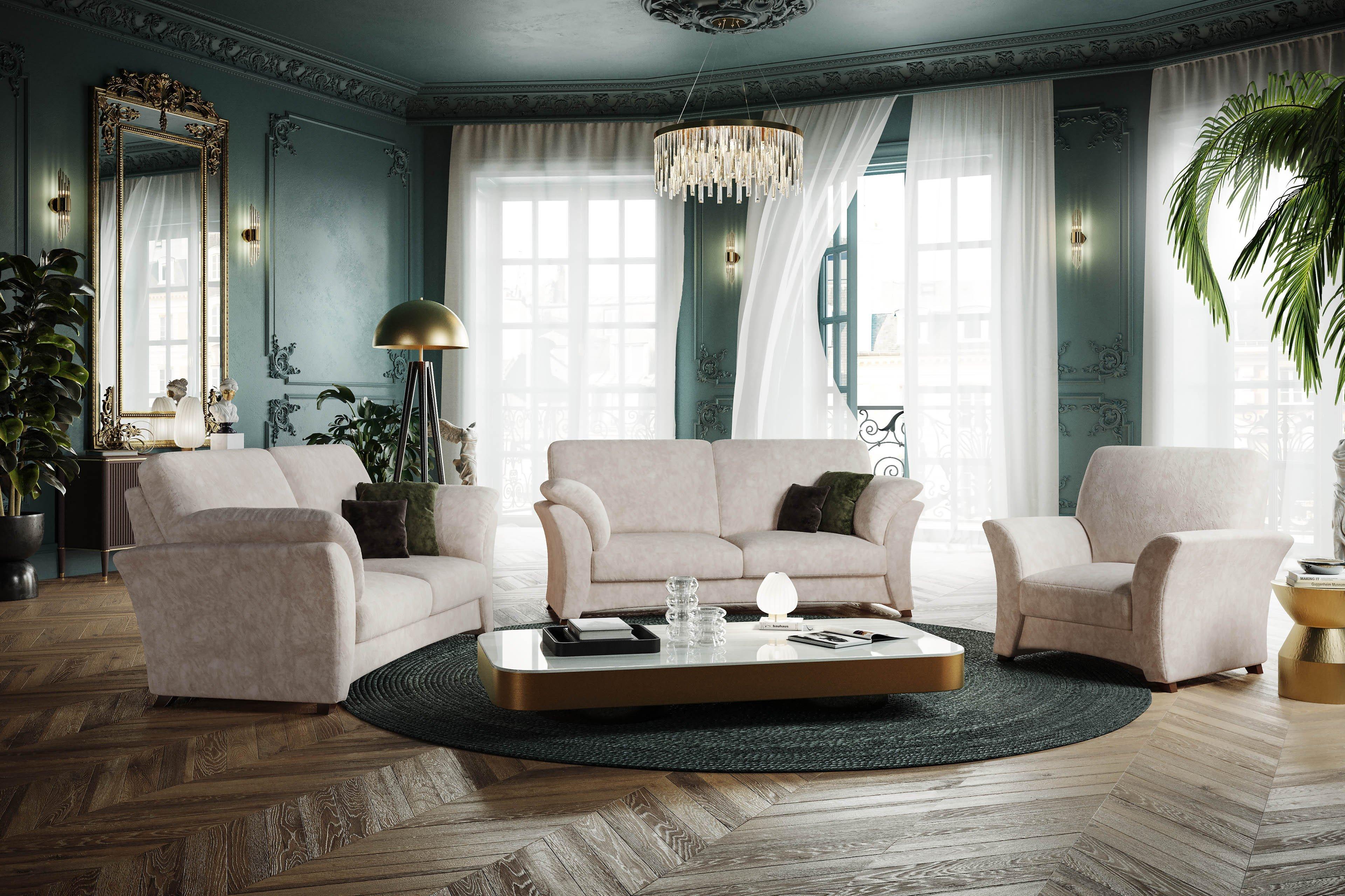 schr no sydney polstergarnitur gr n kariert m bel letz ihr online shop. Black Bedroom Furniture Sets. Home Design Ideas