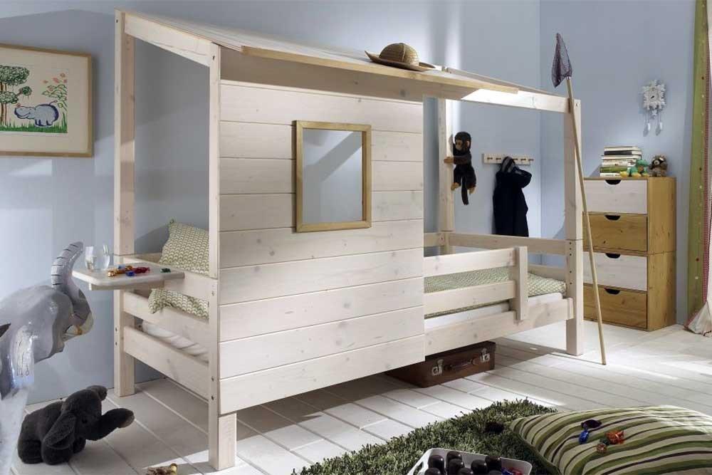 infanskids h ttenzauber bett mit h ttendach kiefer m bel letz ihr online shop. Black Bedroom Furniture Sets. Home Design Ideas