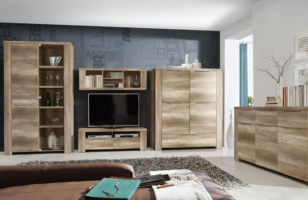 wohnwand calpe d39 eiche antik von forte m bel letz ihr online shop. Black Bedroom Furniture Sets. Home Design Ideas