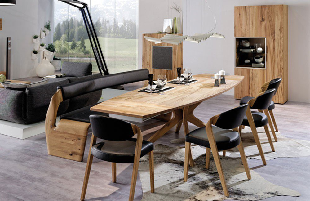esszimmer v alpin eiche altholz testa di moro von voglauer m bel letz ihr online shop. Black Bedroom Furniture Sets. Home Design Ideas