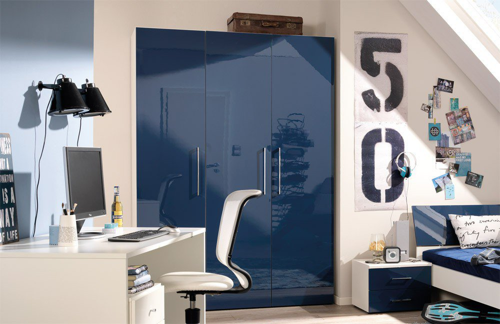 Jw welle jugendwunder hochglanz blau m bel letz ihr online shop - Jugendzimmer blau ...