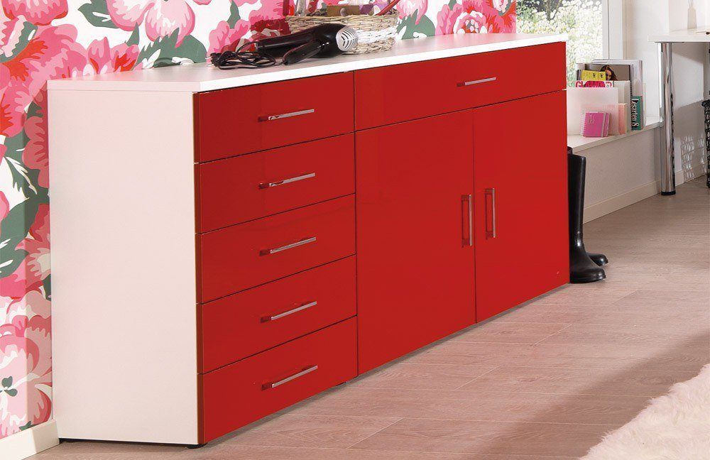 sideboard hochglanz rot top rote kommode hochglanz sideboard hochglanz bunt flurm bel with. Black Bedroom Furniture Sets. Home Design Ideas