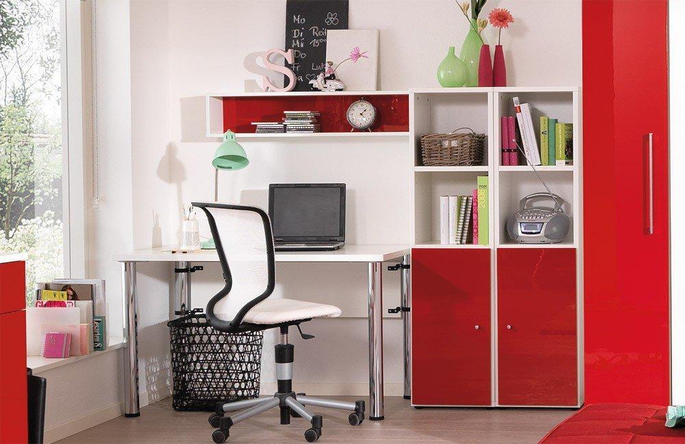 wellem bel jugendzimmer jugendwunder rot hochglanz m bel letz ihr online shop. Black Bedroom Furniture Sets. Home Design Ideas