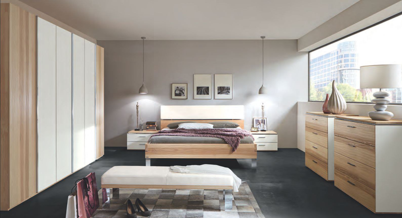 thielemeyer schlafzimmer loft strukturesche glas m bel. Black Bedroom Furniture Sets. Home Design Ideas