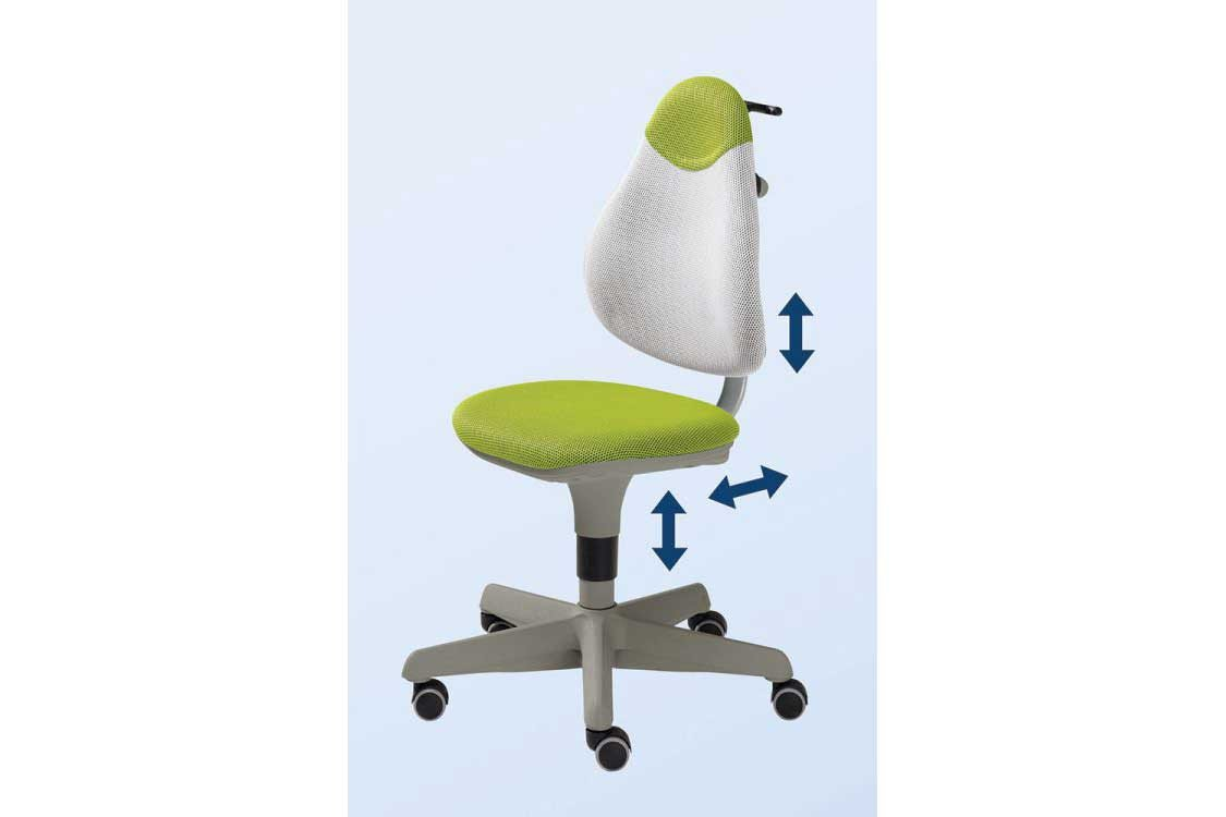 Kinderschreibtischstuhl grün  Pape Kinderdrehstuhl Paidi grün orange | Möbel Letz - Ihr Online-Shop