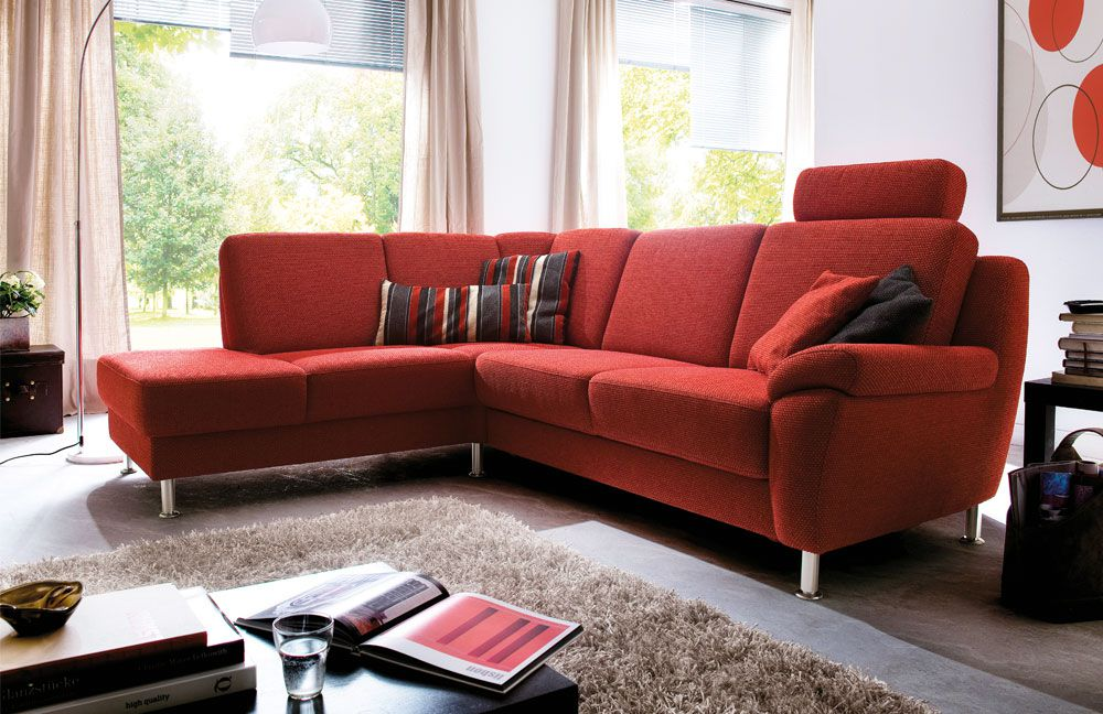 polstergarnitur aruba rot von arco polsterm bel m bel. Black Bedroom Furniture Sets. Home Design Ideas