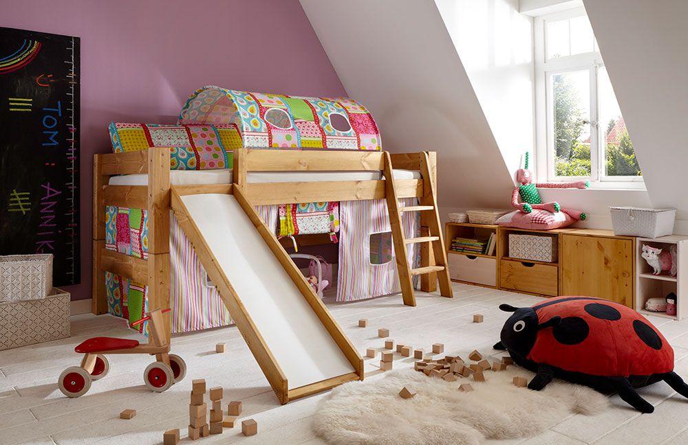 infanskids tobykids halbhochbett kiefer m bel letz ihr. Black Bedroom Furniture Sets. Home Design Ideas