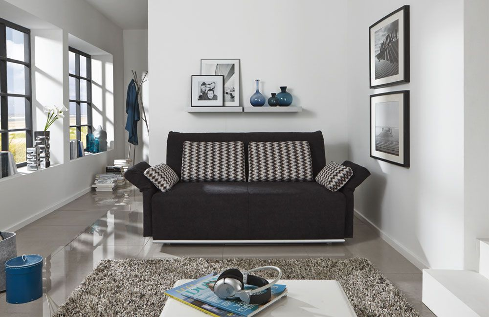 schlafsofa larry schwarz von nehl wohnideen m bel letz. Black Bedroom Furniture Sets. Home Design Ideas
