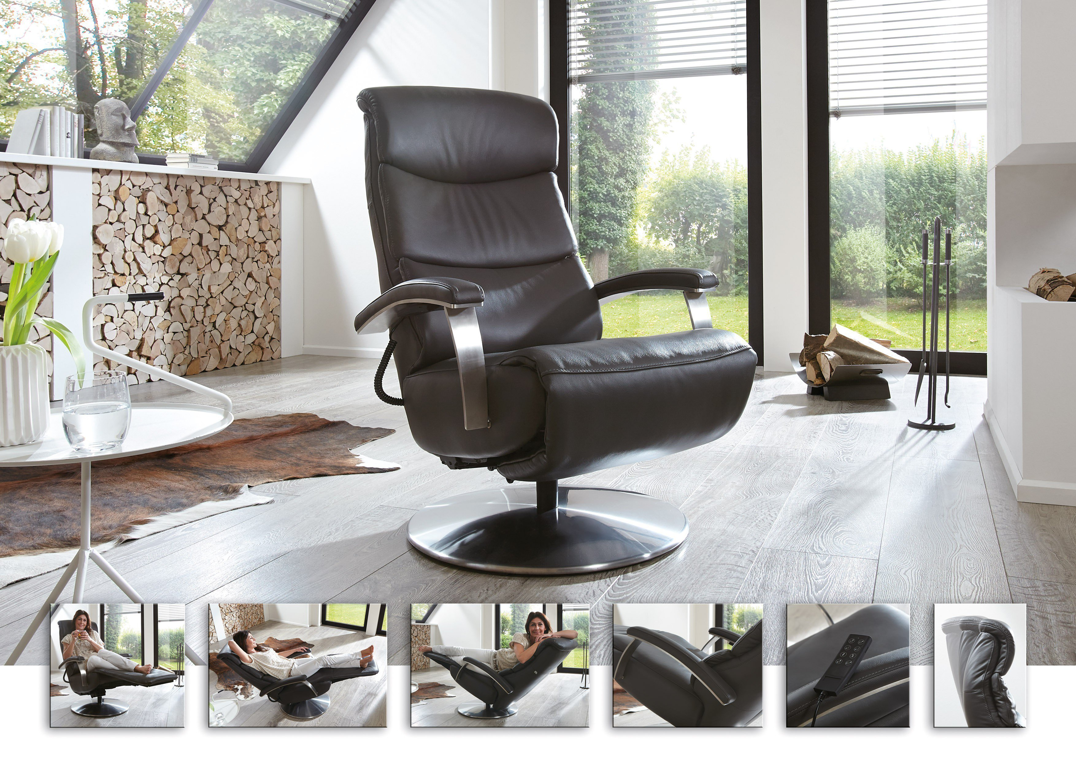 Hukla Cosyrelax Cr 06 Relaxsessel In Grau Möbel Letz Ihr Online