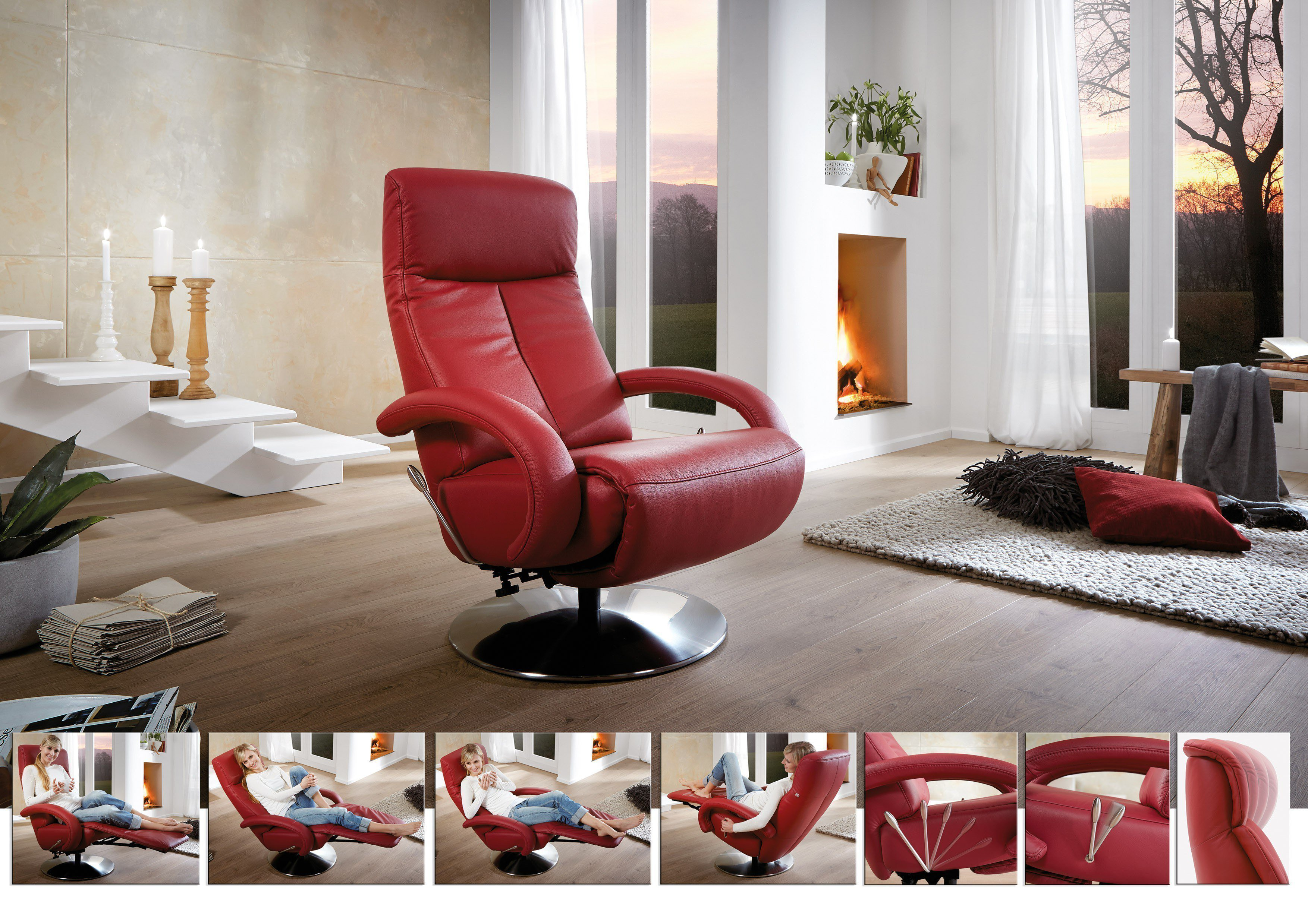Relaxsessel cr 16 cosyrelax rosso von hukla m bel letz for Hukla sessel
