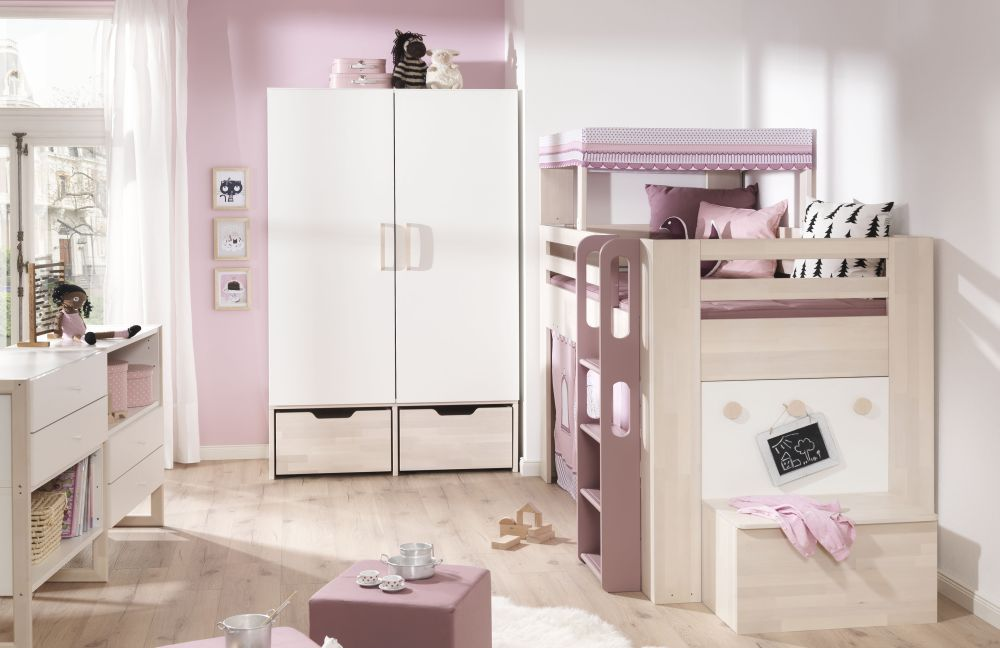 minimundo von wellem bel kinderzimmer wei rosa 1. Black Bedroom Furniture Sets. Home Design Ideas