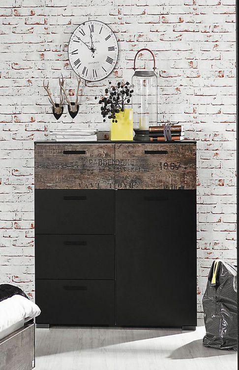 schlafzimmer rauch sumatra, rauch schlafzimmer sumatra vintage-look - schwarz | möbel letz - ihr, Design ideen