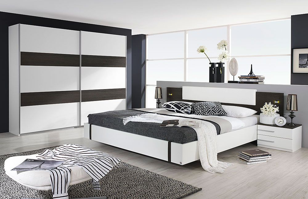 Schlafzimmer Calvia von Rauch Packs Wenge Shiraz Kunstleder Weiß