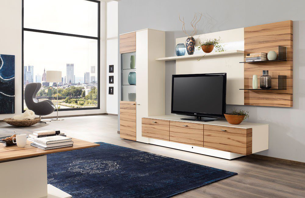 wohnwand vione lina vn13 von gwinner m bel letz ihr online shop. Black Bedroom Furniture Sets. Home Design Ideas
