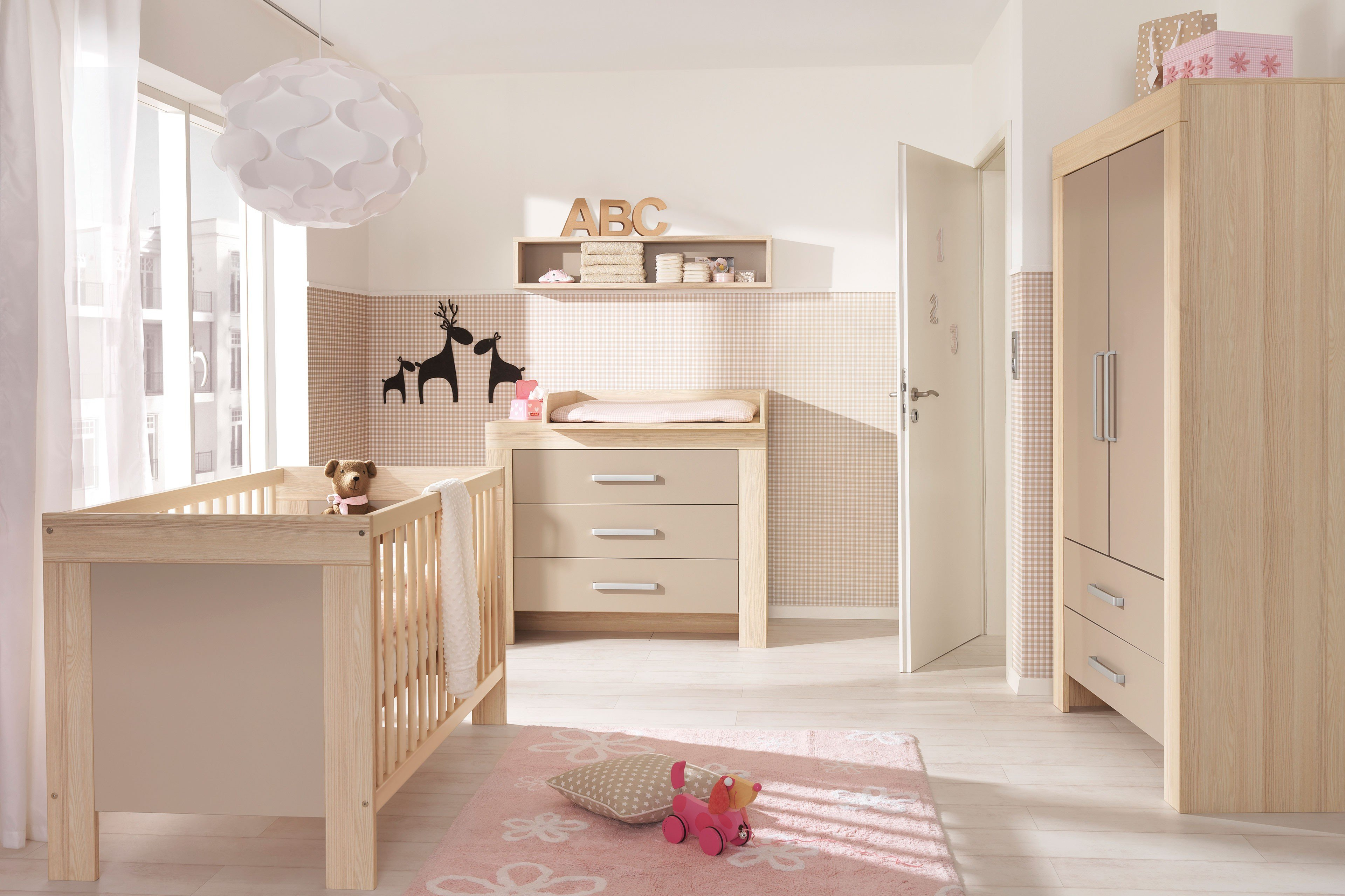 wellem bel babyzimmer lasse esche sandgrau m bel letz ihr online shop. Black Bedroom Furniture Sets. Home Design Ideas