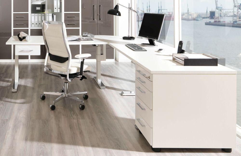 Büromöbel weiss  Wellemöbel Carmargo Büromöbel weiß/lava | Möbel Letz - Ihr Online-Shop