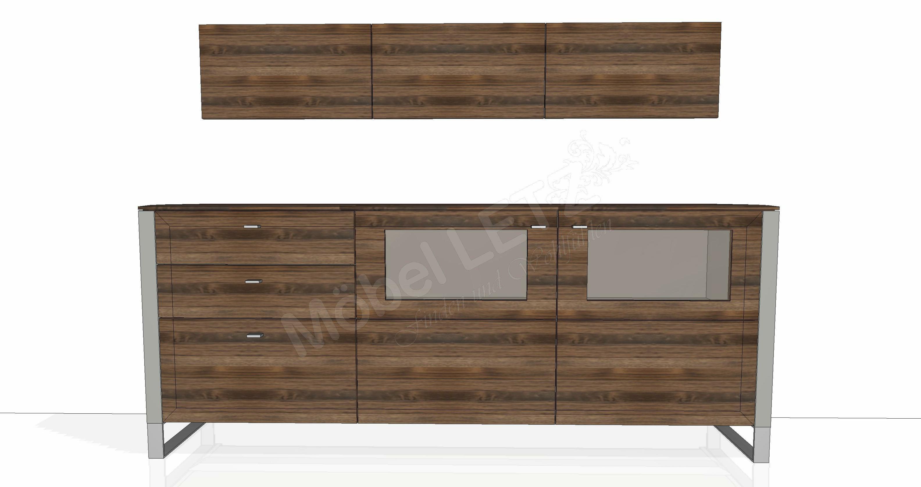 wohnwand solid gorden sl62 von gwinner wohndesign m bel. Black Bedroom Furniture Sets. Home Design Ideas