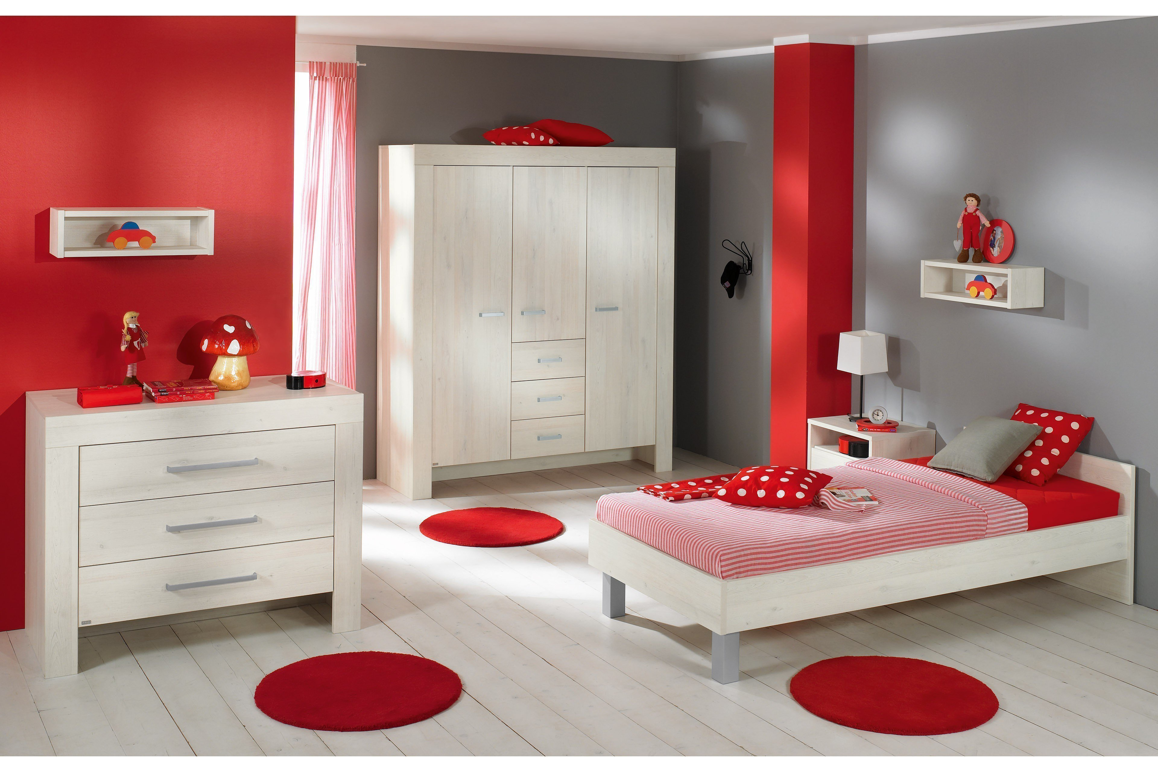 jugendzimmer mees von paidi scandic wood wei nachbildung. Black Bedroom Furniture Sets. Home Design Ideas